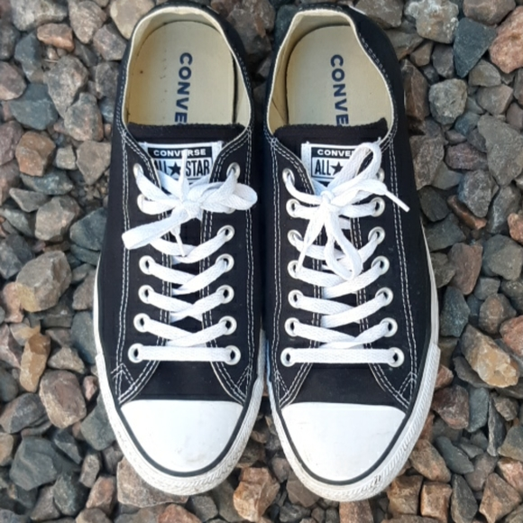 Converse classic black low top canvas sneakers 9